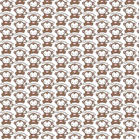 Monkey Blythe Sized - White fabric by hcorleybarto on Spoonflower - custom fabric
