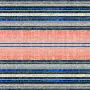 Faux linen stripe in Southwest pink