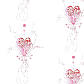 blossoming heart of love - red_pink
