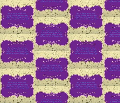 Now I Lay Me Down To Sleep fabric by ginascustomcreations on Spoonflower - custom fabric
