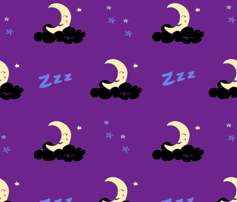Sleepytime_PurpleClouds fabric by chynna on Spoonflower - custom fabric