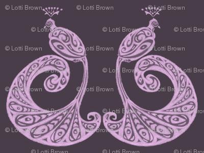 Be Proud! Peacocks - Aubergine/Lilac