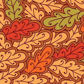 oak automn leaves