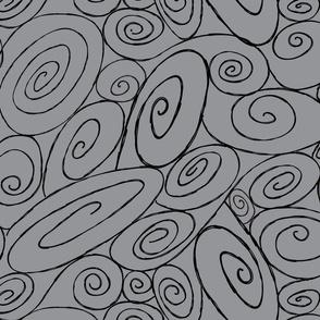 Burton's Spirals - med gray