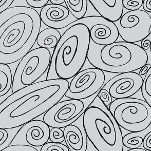 Burton's Spirals - lt gray