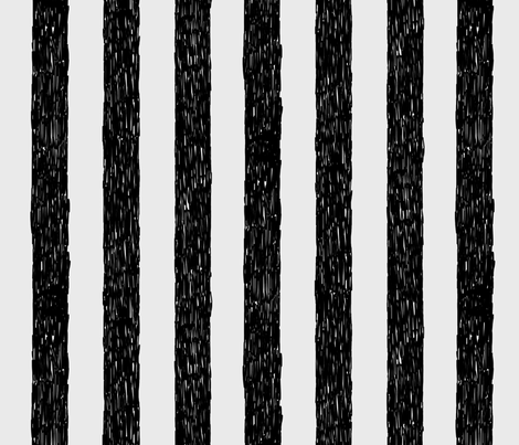 Burton's Vertical Stripes - lt gray fabric by thecalvarium on Spoonflower - custom fabric