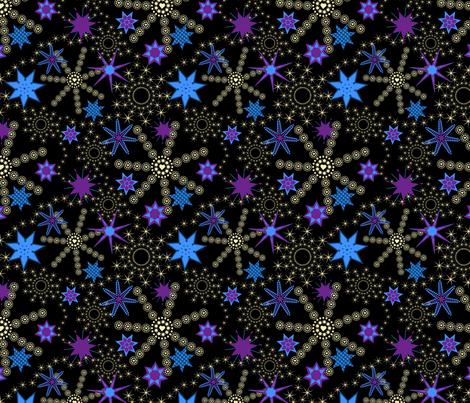 Sleeping under the stars fabric by alexsan on Spoonflower - custom fabric