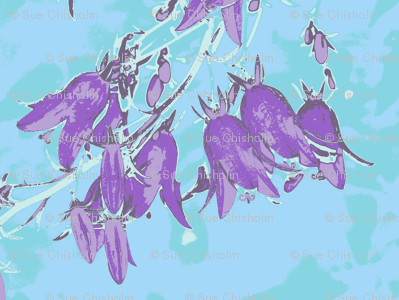 Aqua Blue Purple