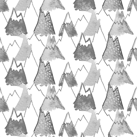 Charcoal Mountain  fabric by emilysanford on Spoonflower - custom fabric