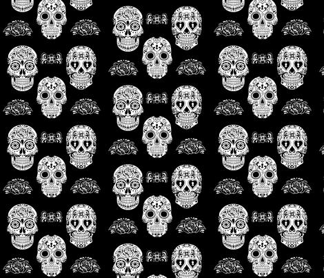 Sugar Skull fabric by phatcatpatch on Spoonflower - custom fabric