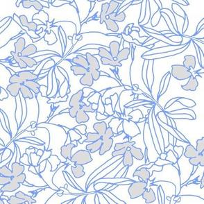 Floral Low Volume Blue