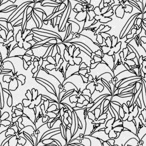 Floral Low Volume  fabric by joanmclemore on Spoonflower - custom fabric