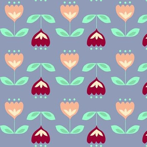 Apricot and Maroon Flowers