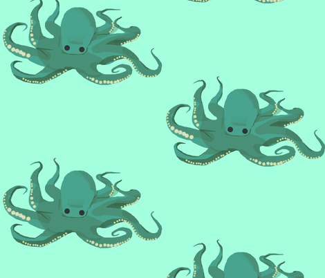 Sweet Blue Octopus fabric by amy_hadden on Spoonflower - custom fabric