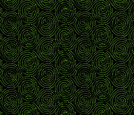spiraldotsgreen fabric by craftyscientists on Spoonflower - custom fabric