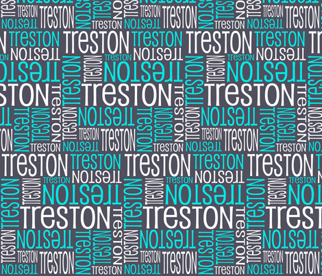 Personalised Name Design - Aniseed Turquoise White fabric by shelleymade on Spoonflower - custom fabric