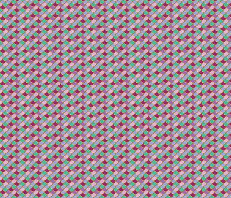 Sea Princess Mermaid Tail Small fabric by katebillingsley on Spoonflower - custom fabric