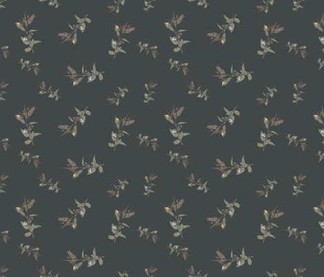 Eucalyptus ficifolia foliage spaced on  424747 fabric by emily_bieman on Spoonflower - custom fabric