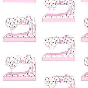 Dancing Roses Sewing Machine Pink