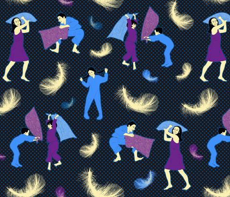 Pillow Fight fabric by vannina on Spoonflower - custom fabric