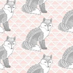 Tribal Fox in Pink