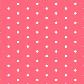 mini dots fabric // coral  pink fabric