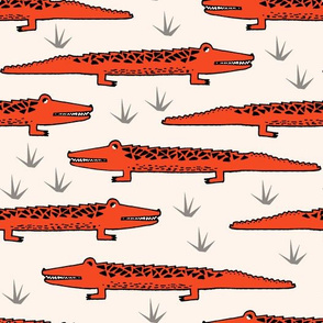 crocodiles // alligator crocodiles reptiles fabric print andrea lauren fabric andrea lauren design, crocodile fabric, alligator print, reptiles