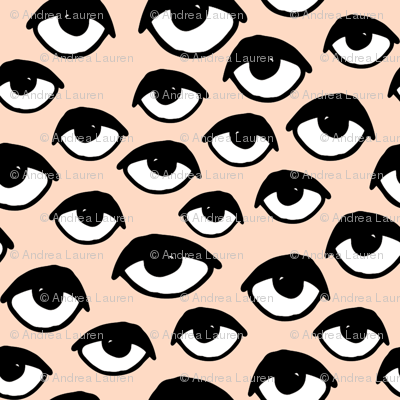 eyes // blush eye fabric cute scary creepy scary halloween fabric