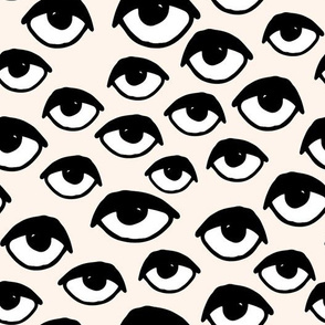 eyes // eye fabric creepy scary spooky cute halloween fabric