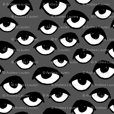 eyes // charcoal eye fabric scary creepy spooky halloween fabric