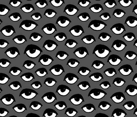 eyes // charcoal eye fabric scary creepy spooky halloween fabric fabric by andrea_lauren on Spoonflower - custom fabric