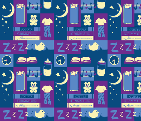 Bedtime Rituals fabric by emily_caraballo on Spoonflower - custom fabric