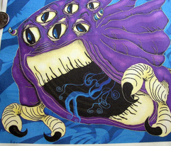 That Monster Under Your Bed blue purple
