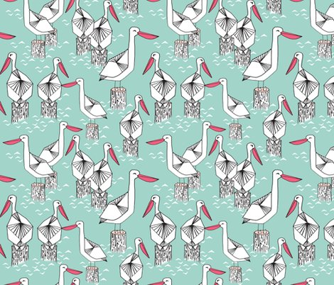 Rpelicans_pale_tuquoise_pink_shop_preview