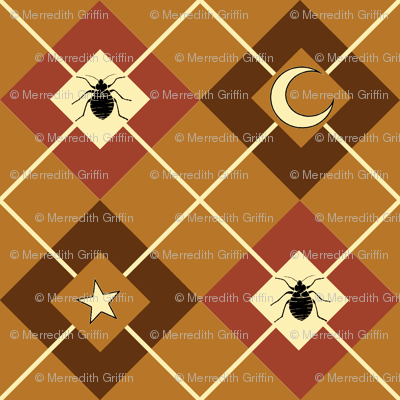 Bed Bug Argyle brown