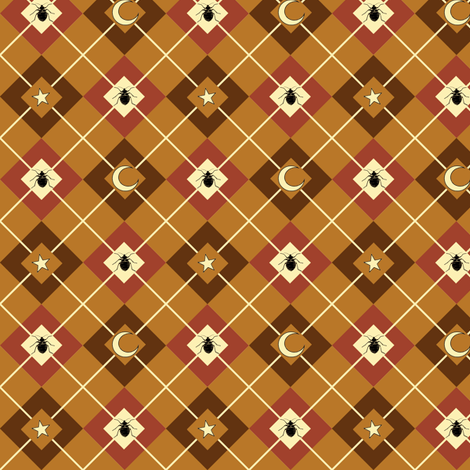 Bed Bug Argyle brown fabric by sufficiency on Spoonflower - custom fabric
