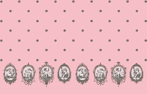 putti (rose) fabric by mossbadger on Spoonflower - custom fabric