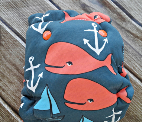 nautical whales // orange and dark navy blue kids nautical fabric whales ocean anchors fabric andrea lauren fabric andrea lauren design