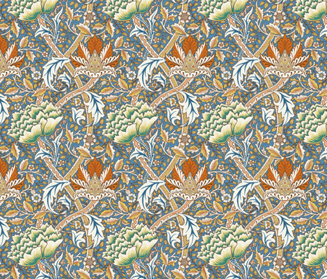 William Morris Windrush fabric by chantal_pare on Spoonflower - custom fabric