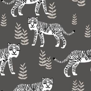 Safari Tiger - Charocal/White by Andrea Lauren