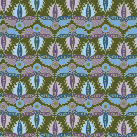 Spiky Winged Leaves pastel fabric by selenaanne on Spoonflower - custom fabric