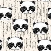 Panda - Champagne/Black/White by Andrea Lauren