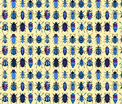Beetle Dormitory fabric by chantal_pare on Spoonflower - custom fabric