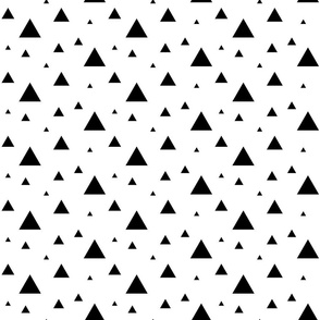 Small Black and White Triangles