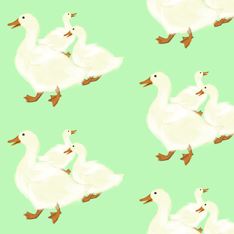 Ducks Gathering fabric by amy_hadden on Spoonflower - custom fabric
