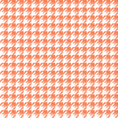 Sketchy houndstooth orange
