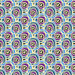 Bed of Roses - Blue Multi Swirl