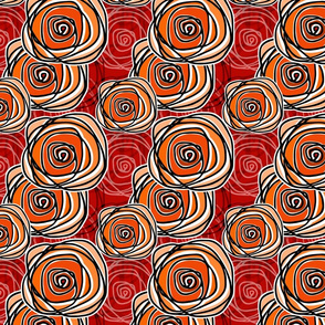 Bed of Roses - Autumn Swirl