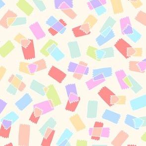 washi tape on cream