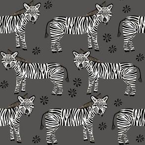Zebra - Charcoal by Andrea Lauren